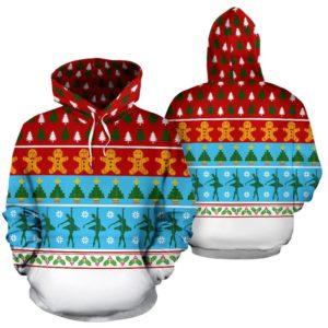 Ballet Dance Christmas Pattern Full Hoodie 351094