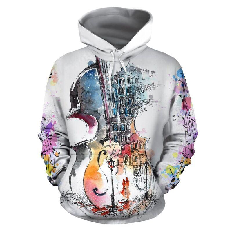 violin abstract drawing full hoodie 350966