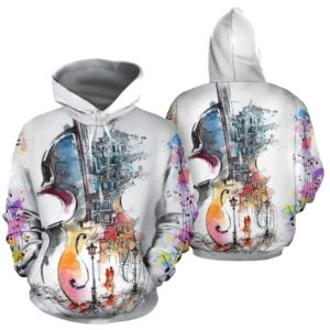 violin abstract drawing full hoodie 350964