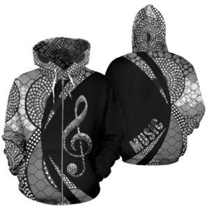 Music note circle ankara zip hoodie LQT 350938