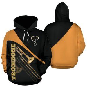 Trombone Love Heart Yellow Full Hoodie - TL 350808
