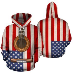 classical guitar usa flag full hoodie 350782