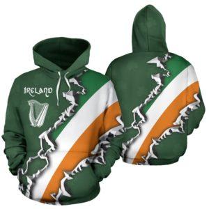 IRISH - Ireland harp full hoodie 350496