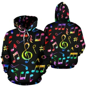Music Note Color Black full hoodie 349274