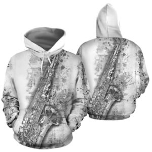 saxophone abstract drawing full hoodie 349066