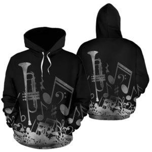 Trumpet note galaxy full hoodie 347870