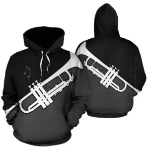 trumpet abstract full hoodie 347766