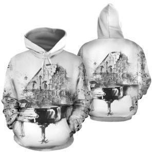 piano abstract drawing full hoodie 347116