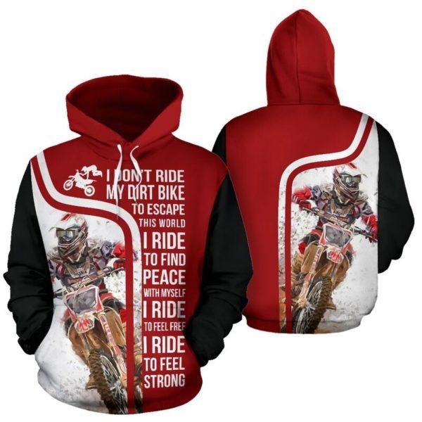 I DON'T RIDE MY DIRT BIKE - MOTOCROSS FULL HOODIE 346830