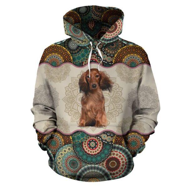 Dachshund Dog - Vintage Mandala Full Hoodie SKY KD@ animallovepro DYTFY@hoodies 344575