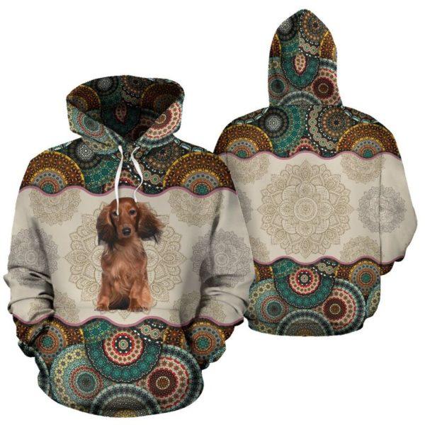 Dachshund Dog - Vintage Mandala Full Hoodie SKY KD@ animallovepro DYTFY@hoodies 344574