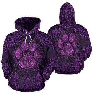 Cat mandala dreamcatcher full hoodie LQT@ animallovepro dffbf@hoodies 344365