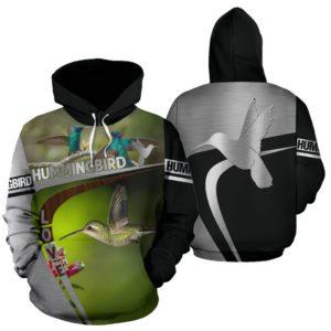 Hummingbird Love Herd Of Silver And Black Full Hoodie - SR@ animallovepro hummingbird5658@hoodies 343975