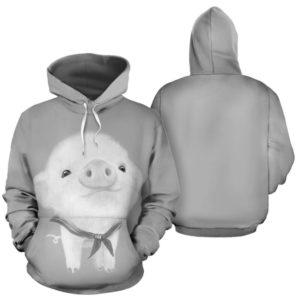 BABY PIG CUTE FULL HOODIE@ animallovepro BABY3565PIG@hoodies 343533