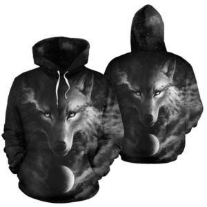 Wolf Cloudy Light Color - Hoodies - NAL@ animallovepro wolfcloudy827@hoodies 342883