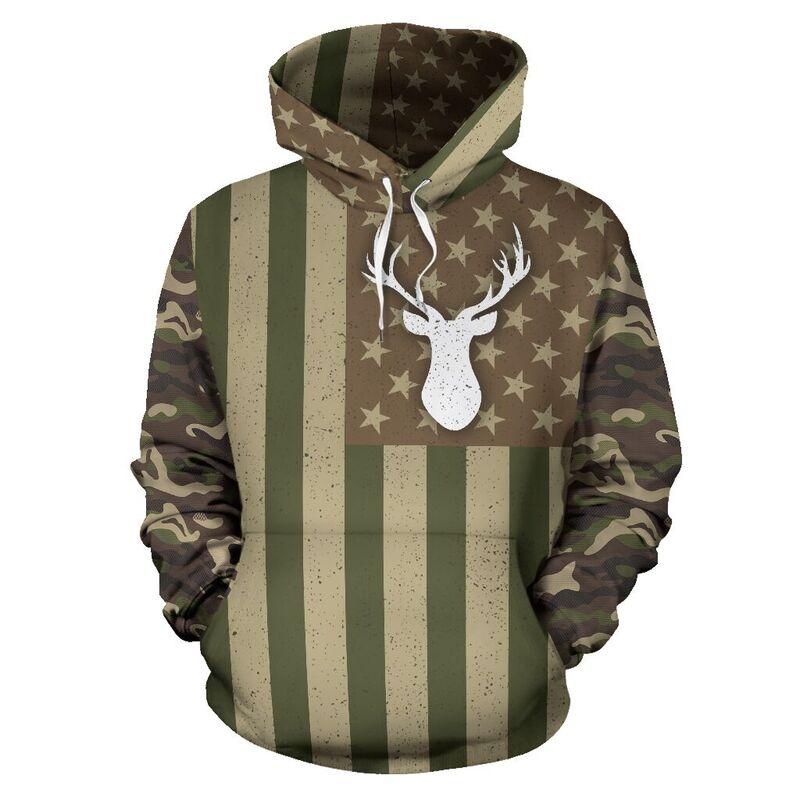 hunting flag camo full hoodie LQT@ animallovepro huntin839@hoodies 342833