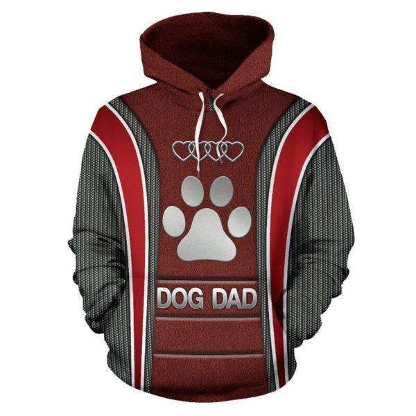 Dog Dad AD Heart Full Hoodie SKY KD@ animallovepro do7dad7kd@hoodies 342651