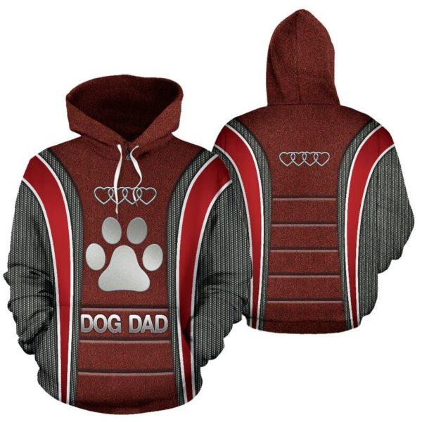 Dog Dad AD Heart Full Hoodie SKY KD@ animallovepro do7dad7kd@hoodies 342650