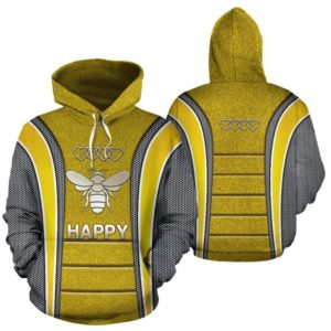Bee Happy AD Heart Full Hoodie SKY@ animallovepro bee3ad9ho@hoodies 342233