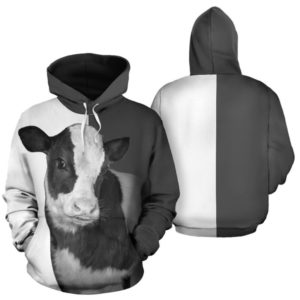 cow face cute full hoodie@ animallovepro cow7583@hoodies 342207