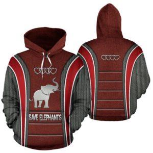 Save Elephants AD Heart Full Hoodie SKY@ animallovepro ele3ad38s@hoodies 342129