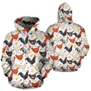 Chicken henna flower color full hoodie LQT@ animallovepro chin8ir903@hoodies 341375