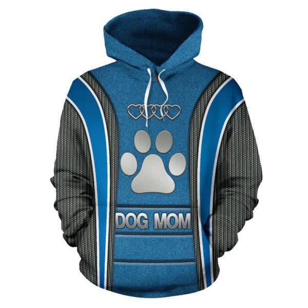 Dog mom AD Heart Full Hoodie SKY Blue KD@ animallovepro dog87blu9ho@hoodies 341090