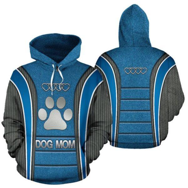 Dog mom AD Heart Full Hoodie SKY Blue KD@ animallovepro dog87blu9ho@hoodies 341089