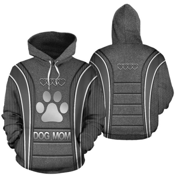 Dog mom AD Heart Full Hoodie SKY Blue KD@ animallovepro dog87blu9ho@hoodies 341088