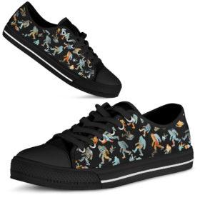 Believe In Bigfoot Shoes for Mens, Womens Tennis Custom Shoes, Custom Low Top, Personalised Sneaker Shoes