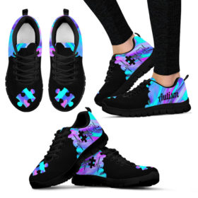 Autism Puzzle Heart Sneakers, Running Shoes, Shoes For Womens, Mens, Custom Shoes, Low Top Shoes, Customized Sneaker