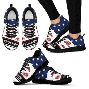 Trucker American flag sneakers@ silveryprint 08052020009cle1ti02vu01tr01sho1trk5042@sneakers 326004