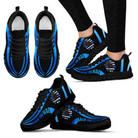 Back The Blue Sneakers, Running Shoes, Shoes For Womens, Mens, Custom Shoes, Low Top Shoes, Customized Sneaker