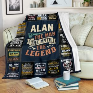 Alan Premium Blanket BL02@_anzgiftshop_Alanbl0102@premium-blanket Alan Premium Blanket Bl02 Fleece Blanket, Personalized Gifts, Custom Blanket 605406