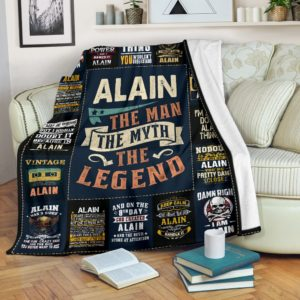 Alain Premium Blanket@_anzgiftshop_Ailainbl01@premium-blanket Alain Premium Blanket Fleece Blanket, Personalized Gifts, Custom Blanket 604700
