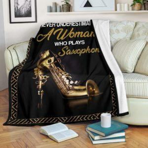 Saxophone - A Woman High Heels Pre Blanket@_springlifepro_safg4363@premium-blanket Saxophone - A Woman High Heels Pre Blanket Fleece Blanket, Personalized Gifts, Custom Blanket 603859