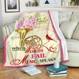 horn bird flower blanket@_springlifepro_horn7567458@premium-blanket Horn Bird Flower Blanket Fleece Blanket, Personalized Gifts, Custom Blanket 603742