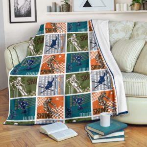 Skiing Stamps Star Blanket - SR@_springlifepro_sad7u87@premium-blanket Skiing Stamps Star Blanket - Sr Fleece Blanket, Personalized Gifts, Custom Blanket 603690