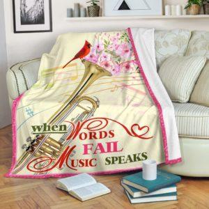 trumpet bird flower blanket@_springlifepro_trumpry74y65784@premium-blanket Trumpet Bird Flower Blanket Fleece Blanket, Personalized Gifts, Custom Blanket 603651