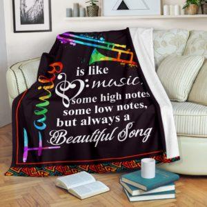 Trombone Blanket - Family is like music@_springlifepro_tromartbl8937@premium-blanket Trombone Blanket - Family Is Like Music Fleece Blanket, Personalized Gifts, Custom Blanket 603573