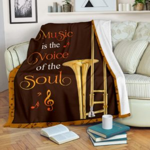 trombone- music is the voice of the soul pre blanket@_springlifepro_tromby858@premium-blanket Trombone- Music Is The Voice Of The Soul Pre Blanket Fleece Blanket, Personalized Gifts, Custom Blanket 603430