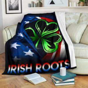 Irish - Flag USA Blanket@_springlifepro_safgdh@premium-blanket Irish - Flag Usa Blanket Fleece Blanket, Personalized Gifts, Custom Blanket 603391