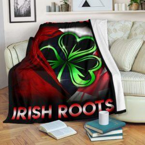 Canadian born Irish roots - Flag USA Blanket KD@_springlifepro_fghlkh@premium-blanket Canadian Born Irish Roots - Flag Usa Blanket Kd Fleece Blanket, Personalized Gifts, Custom Blanket 603326
