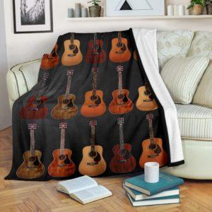 Guitar Music Printed Blanket@_springlifepro_Guitar4154@premium-blanket Guitar Music Printed Blanket Fleece Blanket, Personalized Gifts, Custom Blanket 603084