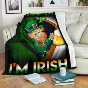 Kiss me i'm Irish - Flag USA Blanket@_springlifepro_dgfhfgj@premium-blanket Kiss Me I'M Irish - Flag Usa Blanket Fleece Blanket, Personalized Gifts, Custom Blanket 603045