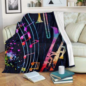 Trombone - Color Art Blanket KD@_springlifepro_DSGDFG@premium-blanket Trombone - Color Art Blanket Kd Fleece Blanket, Personalized Gifts, Custom Blanket 602941