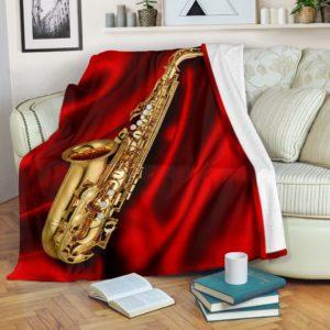 SAXOPHONE SILK BACKGROUND BLANKET@_springlifepro_SAXOPHONEDSFG@premium-blanket Saxophone Silk Background Blanket Fleece Blanket, Personalized Gifts, Custom Blanket 602603