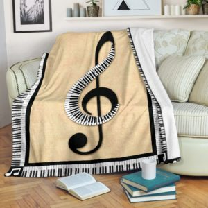 piano music note painting blanket@_springlifepro_pian7538785@premium-blanket Piano Music Note Painting Blanket Fleece Blanket, Personalized Gifts, Custom Blanket 602434