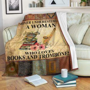book trombone- never understimate blanket@_springlifepro_boo74673@premium-blanket Book Trombone- Never Understimate Blanket Fleece Blanket, Personalized Gifts, Custom Blanket 602302