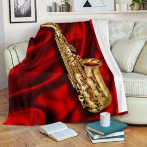 SAXOPHONE SILK BACKGROUND BLANKET@_springlifepro_SAXOPHONEdf65@premium-blanket Saxophone Silk Background Blanket Fleece Blanket, Personalized Gifts, Custom Blanket 602263